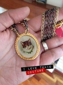 Collar Cameo Gato Vintage 2