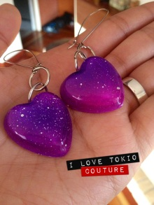 Aretes Space i Love Tokio Couture