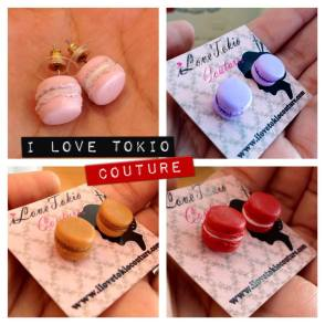 Aretes Macarons en i Love Tokio Couture